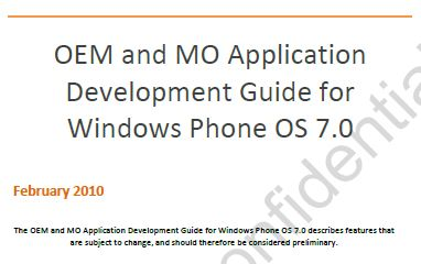 The OEM and MO Application Guide for Windows Phone 7