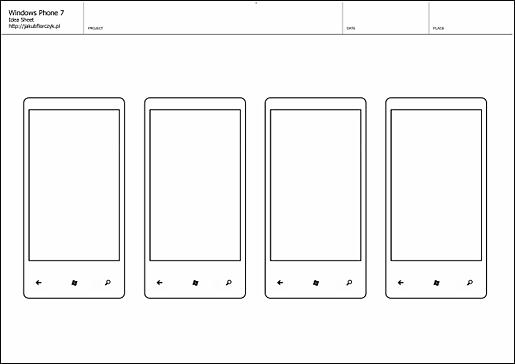 Шаблон для пользовательского интерфейса Windows Phone 7