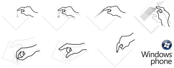 WP7 управление жестами