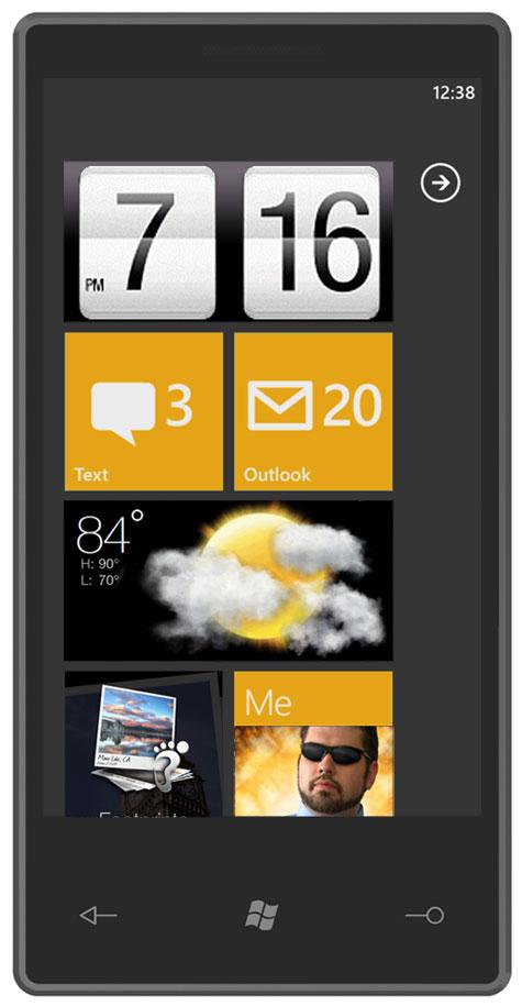 Рабочий стол HTC Sense для Windows Phone 7