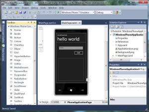 WP7 Developer Tools Beta