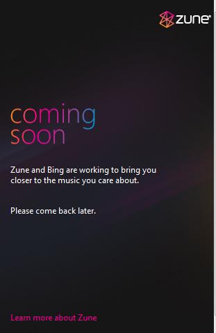 Bing + Zune