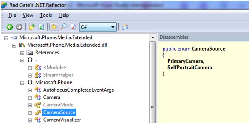 Тип для камеры в .Net для WP7