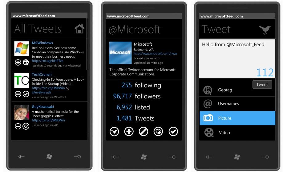 Программа для Windows Phone 7 - TwitFeed