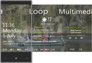 Windows Phone 7 - lock screen концепт