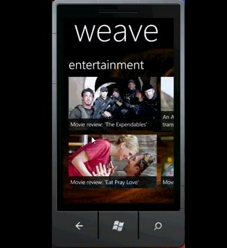 Weave RSS - RSS читалка для Windows Phone 7