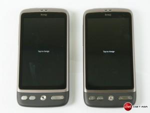 AMOLED (справа) vs SLCD (слева) - черный