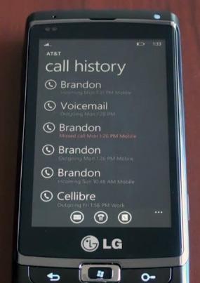 Windows Phone 7 - звонилка