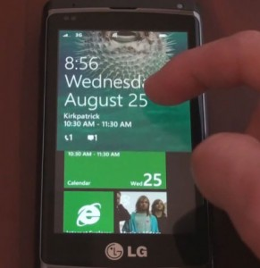 Windows Phone 7 - lock screen