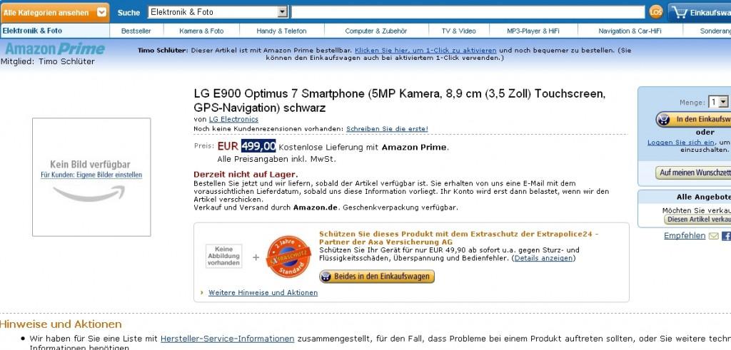 Продажа коммуникатора LG Optimus 7 / LG E900