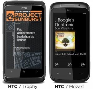 HTC 7 Trophy, HTC 7 Mozart