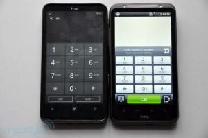 Набор номера у HTC HD7 и HTC Desire