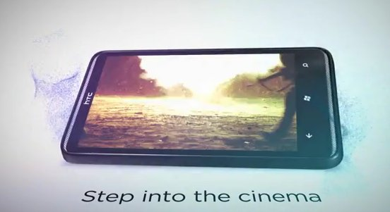 Кадр из тизера HTC HD7