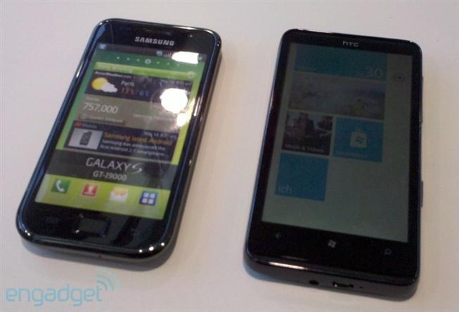 HTC HD7 в сравнении с Samsung Galaxy S