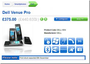 Dell Venue Pro - предзаказ