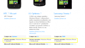 Две разные версии Windows Phone 7
