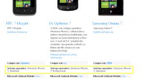 Две разные версии Windows Phone 7