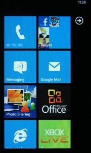 Samsung Omnia 7 - Start Screen