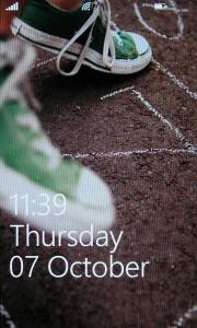 Samsung Omnia 7 - Lock Screen