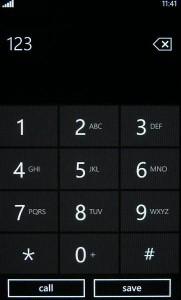 Samsung Omnia 7 - диалер