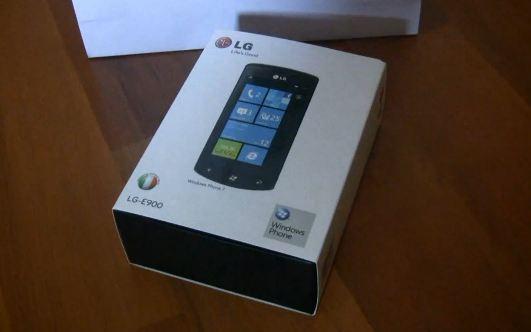 Коробка LG Optimus 7
