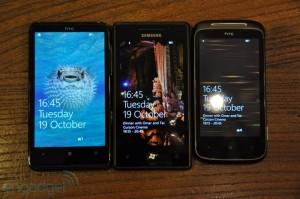 HTC 7 Mozart, HTC HD7, Samsung Omnia 7