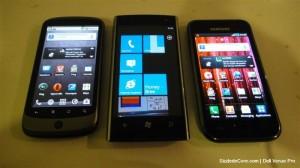 Dell Venue Pro и Samsung Galaxy S и Nexus One