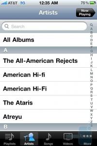 Музыкальный плеер в iPhone