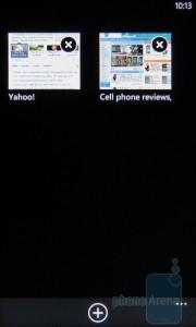 Internet Explorer Mobile - переключение страниц