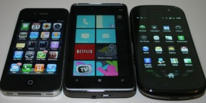 Apple iPhone 4 vs HTC HD7 vs Samsung Nexus S