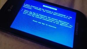 Синий экран смерти на Windows Phone 7
