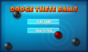 Dodge These Balls - меню