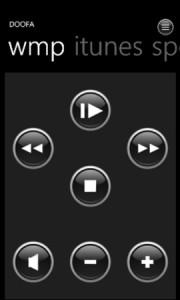 Doofa - управление медиа-проигрывателями на Windows Phone 7