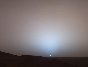 Закат Солнца с Марса (фото NASA)