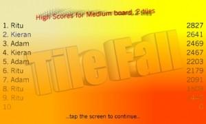 Tile Fall - лучшие игроки
