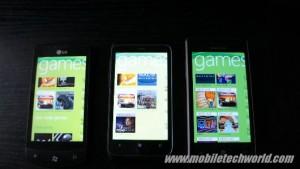 Samsung Omnia 7, HTC 7 Trophy и LG Optimus 7
