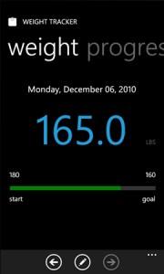 Weight Tracker - программа для Windows Phone 7