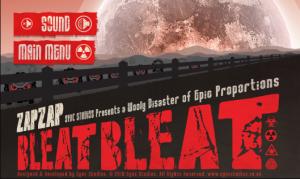 Zap Zap Bleat Bleat - меню игры