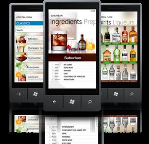 Cocktail Flow - приложение для Windows Phone 7