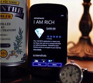 I am Rich - приложение для Windows Phone 7