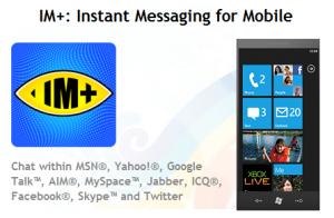 IM+ для Windows Phone 7 выйдет в январе-феврале