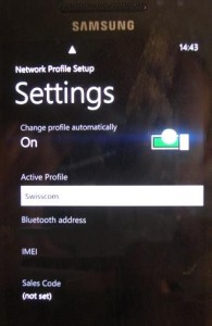 MMS на Samsung WP7