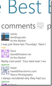 WordPress на Windows Phone 7 - комментарии