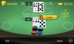 Blackjack - проигрыш