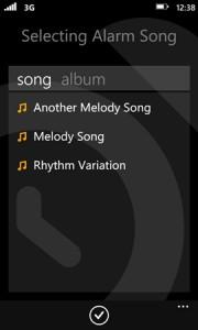 SleepMaster - выбор мелодии звонка