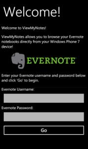 Evernote для WP7