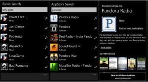 Поиск на iTunes и AppStore из WP7