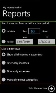 My Money Tracker - отчеты