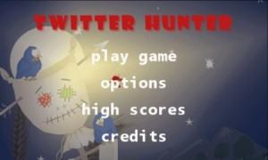 Twitter Hunter - меню