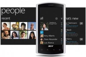 Acer выпустит телефон на Windows Phone 7 к сентябрю